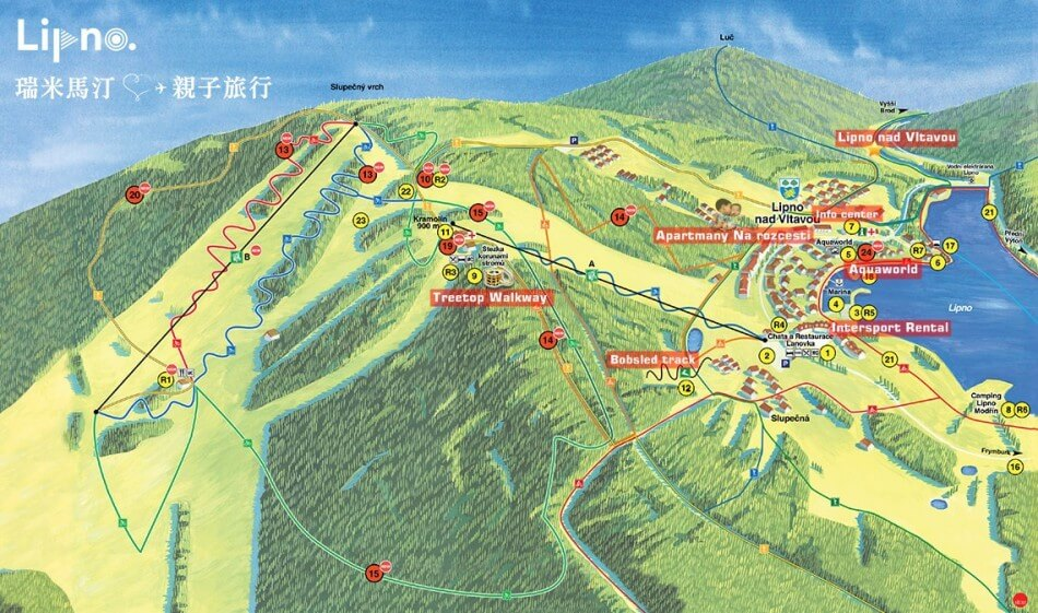 Lipno 地圖