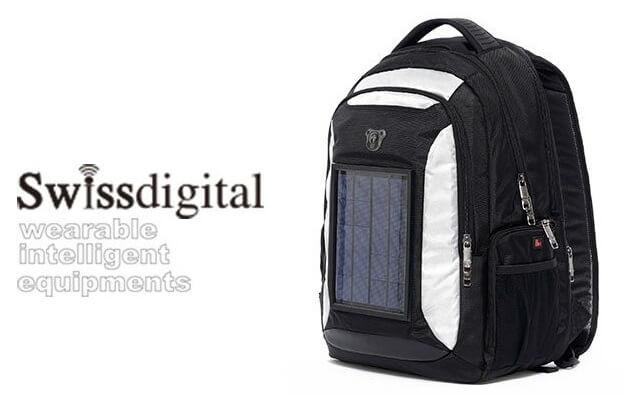 Swissdigital 太陽能充電背包